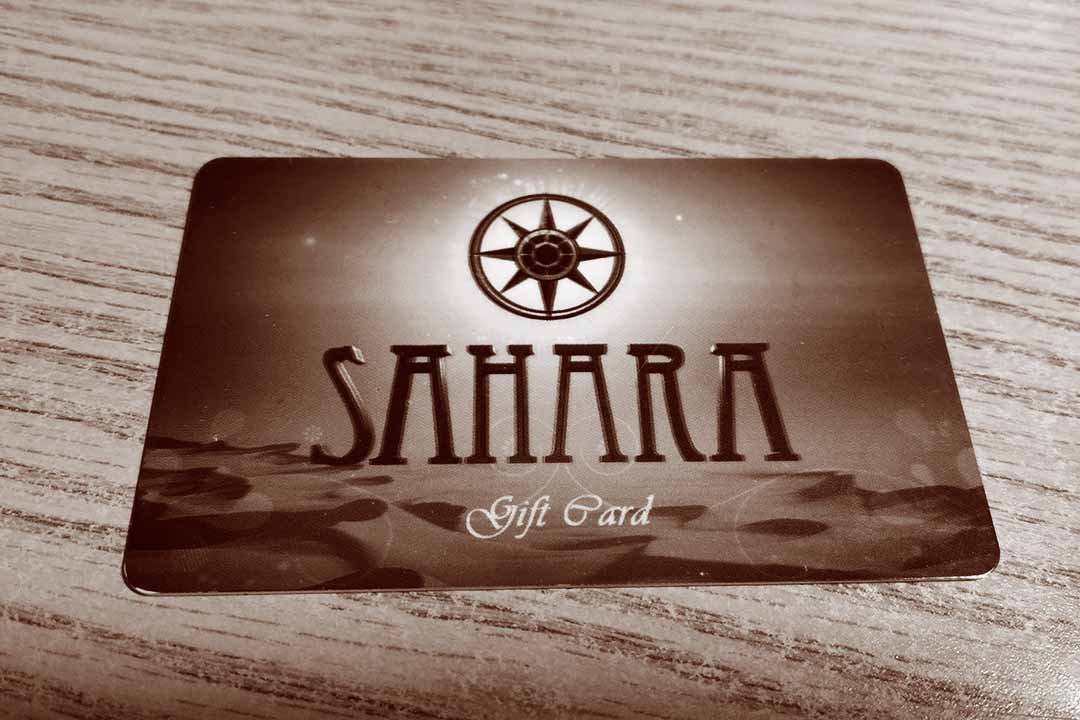 Full of Flavor, Full of Life...   Ask your server to purchase a Sahara Gift Card to share gift of good food with friends and family!